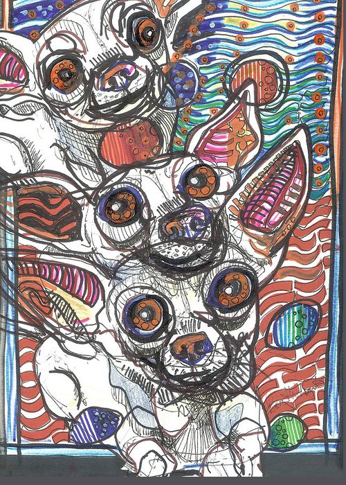 Rwjr Greeting Card featuring the drawing Moodswings by Robert Wolverton Jr