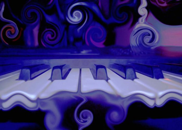 Music Greeting Card featuring the photograph Moody Blues by Linda Sannuti