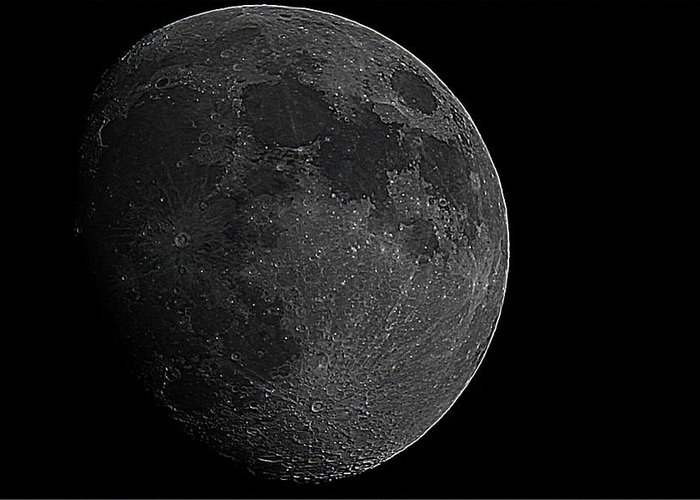 Moon Greeting Card featuring the photograph Moon by Angela Aird