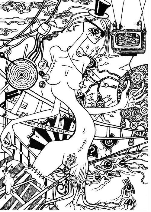 Scissors Drawings Greeting Cards