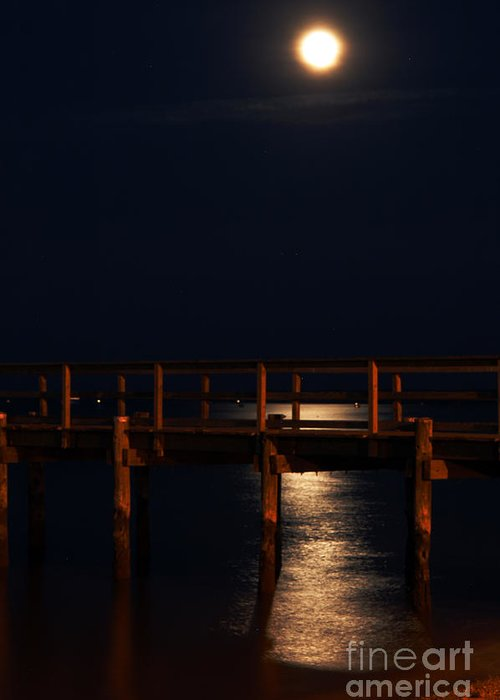 Clay Greeting Card featuring the photograph Moonlight On Water by Clayton Bruster