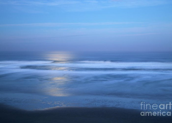 Moonlight Greeting Card featuring the photograph Moonlight Over The Pacific by Bruce Block