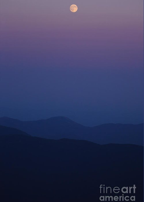 Mountains Greeting Card featuring the photograph Moonrise - Mount Washington New Hampshire by Erin Paul Donovan
