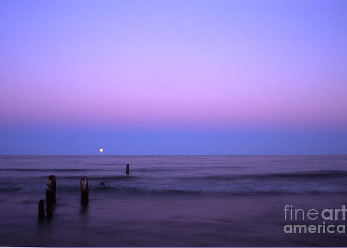 Moon Greeting Card featuring the photograph Moonrise by Timothy Johnson