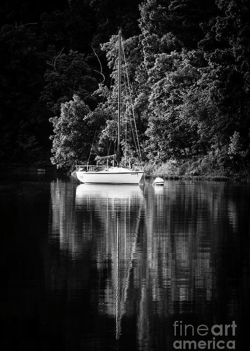 Sailboat Greeting Card featuring the photograph Moored 2 by Dennis Hedberg