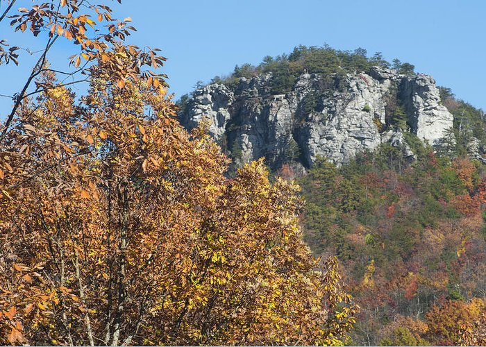 Autumn Greeting Card featuring the photograph Moore's Knob by Dennis Ludlow