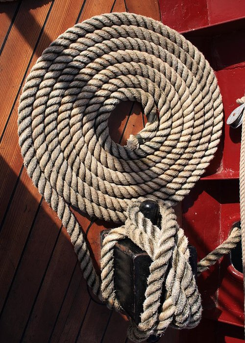 Fine Art Greeting Card featuring the photograph Mooring Line by Doug Mills
