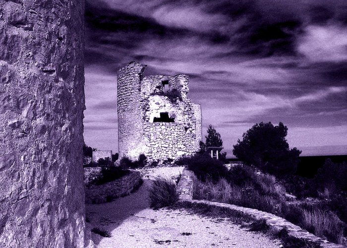 Tower Greeting Card featuring the photograph Moral Of An Ancient Sin by Ingrid Dance