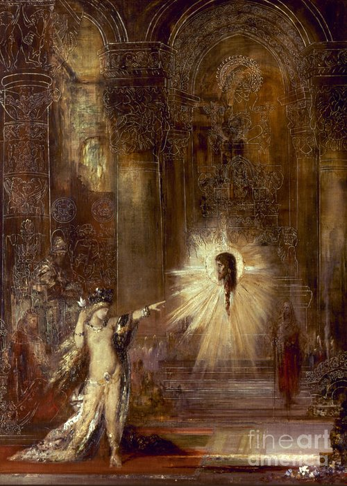 1876 Greeting Card featuring the painting Moreau: Apparition, 1876 by Granger