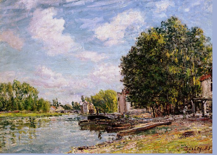 Moret-sur-loing Greeting Card featuring the painting Moret-sur-loing by Alfred Sisley