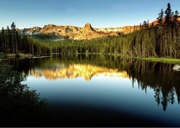 Morning Greeting Card featuring the photograph Morning At Lake Mamie by Surjanto Suradji