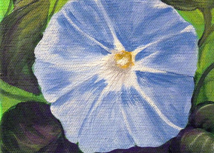 Morning Glory Greeting Card featuring the painting Morning Glory by Sharon Marcella Marston