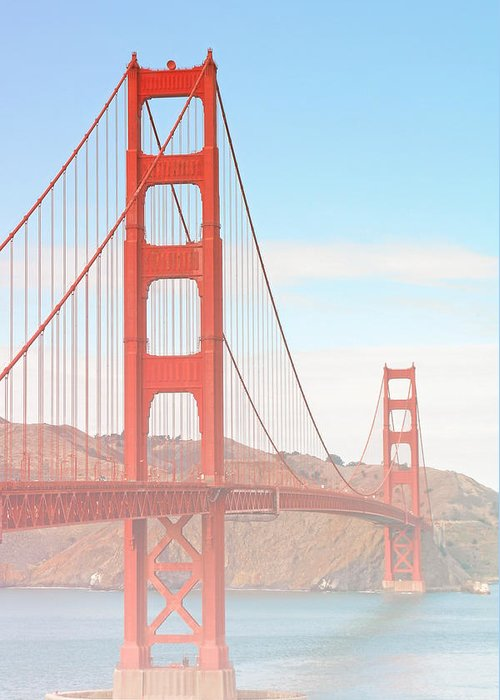 Golden Gate Bridge Greeting Card featuring the photograph Morning Has Broken - Golden Gate Bridge San Francisco by Christine Till