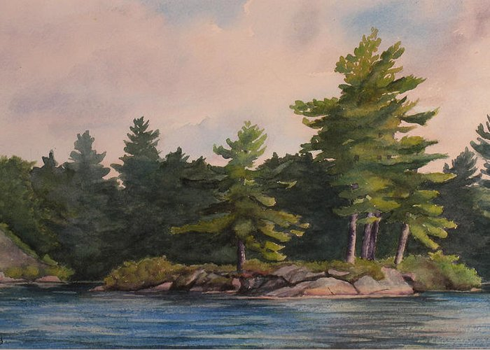 Island Greeting Card featuring the painting Morning Light by Debbie Homewood
