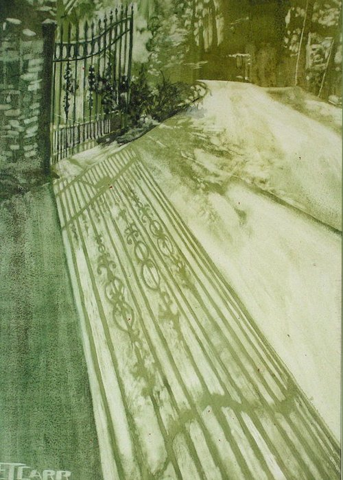 Green Greeting Card featuring the painting Morning Light by Elizabeth Carr