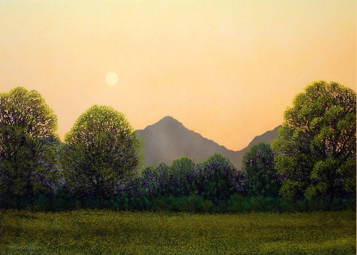 Landscape Greeting Card featuring the painting Morning Light by Frank Wilson