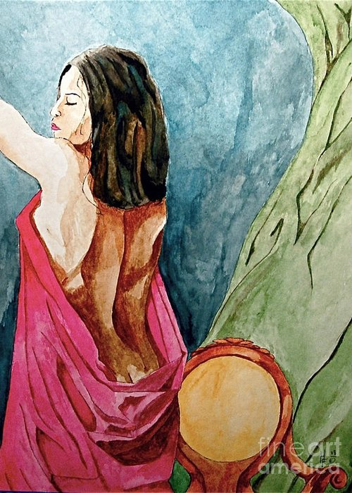 Nudes Women Greeting Card featuring the painting Morning Light by Herschel Fall