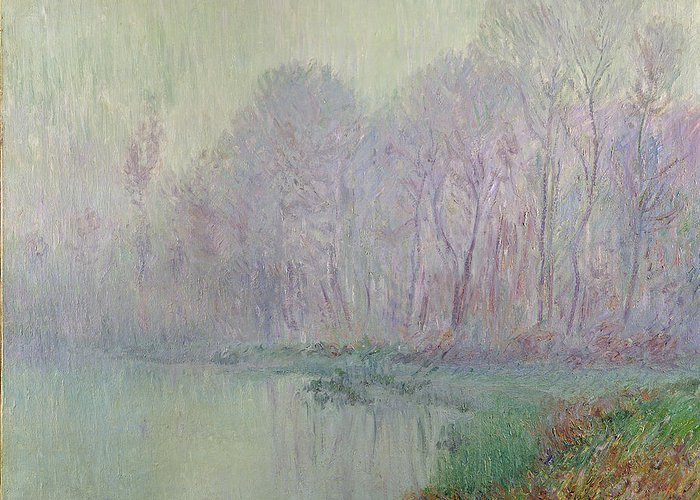 Morning Greeting Card featuring the painting Morning Mist by Gustave Loiseau