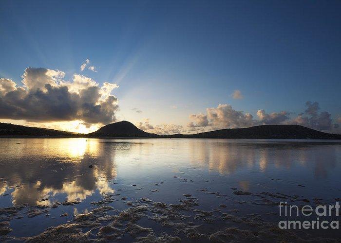 Hawaii Greeting Card featuring the photograph Morning Rays Over Hawaii Kai by Charmian Vistaunet