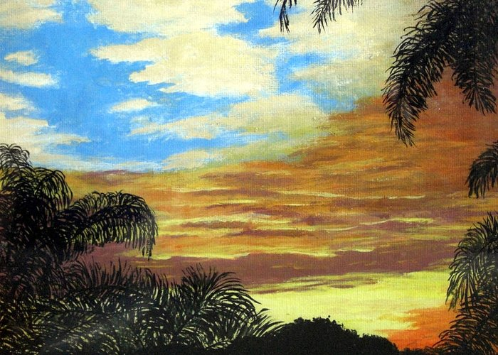 Sunrise-sunset Painting Greeting Card featuring the painting Morning Sky by Frederic Kohli