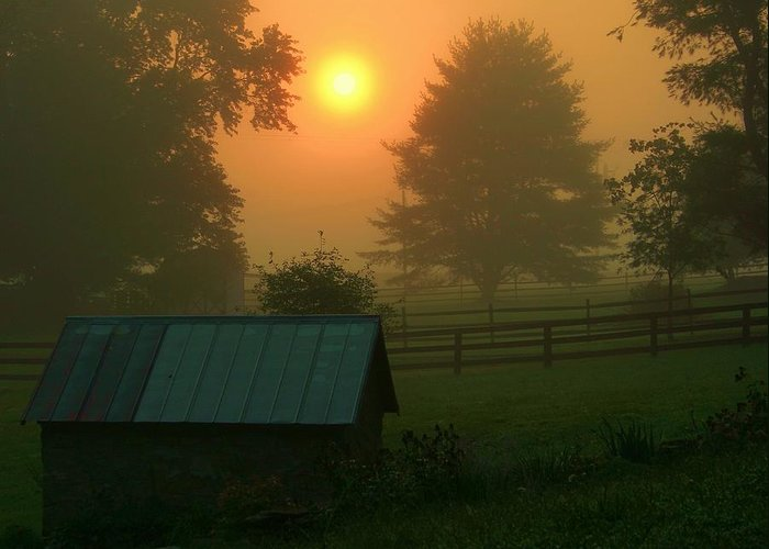 Landscape Greeting Card featuring the photograph Morning Star by Mitch Cat