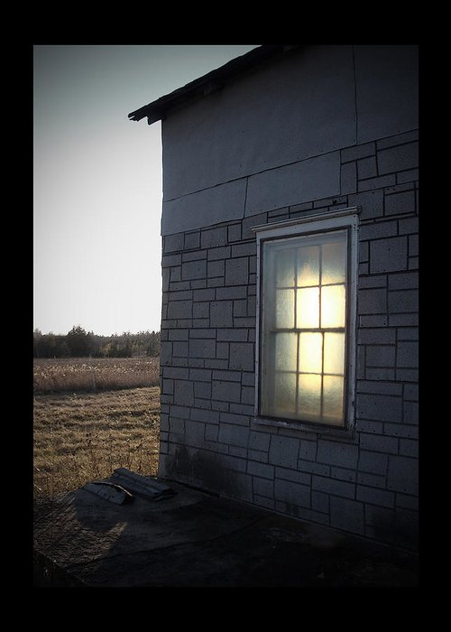 Window Greeting Card featuring the photograph Morning Sun Window by Tim Nyberg