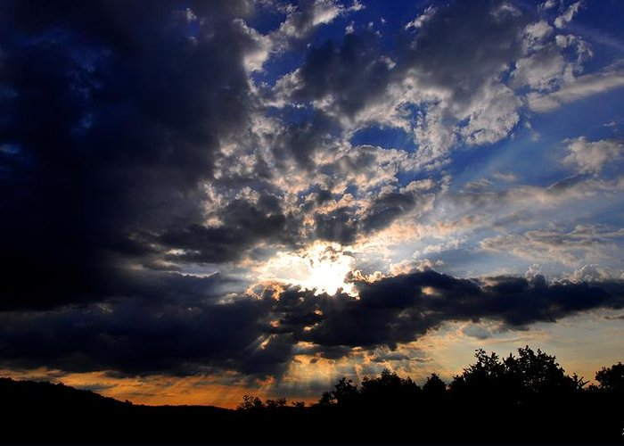 Sunrise Greeting Card featuring the photograph Morning Sunrays by Noah Cole