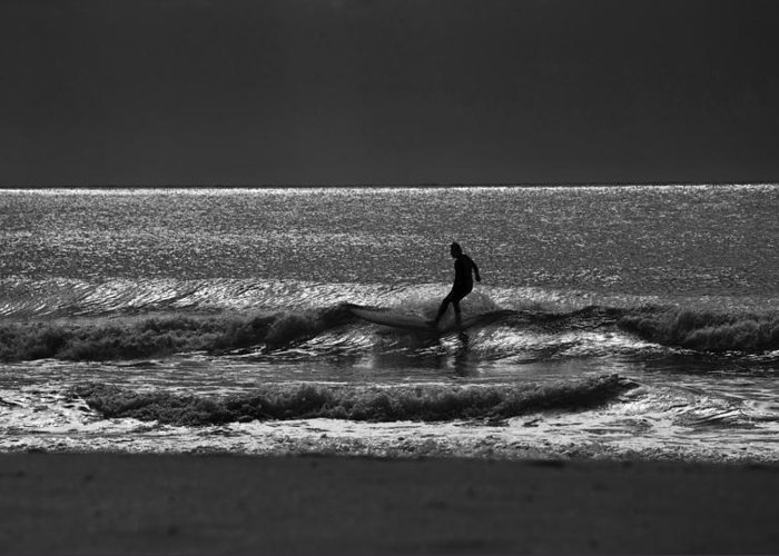Surfer Greeting Card featuring the photograph Morning surfer by Sheila Smart Fine Art Photography