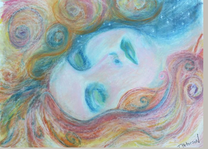 Painting Greeting Card featuring the painting Morpheus Embrace by Todd Peterson