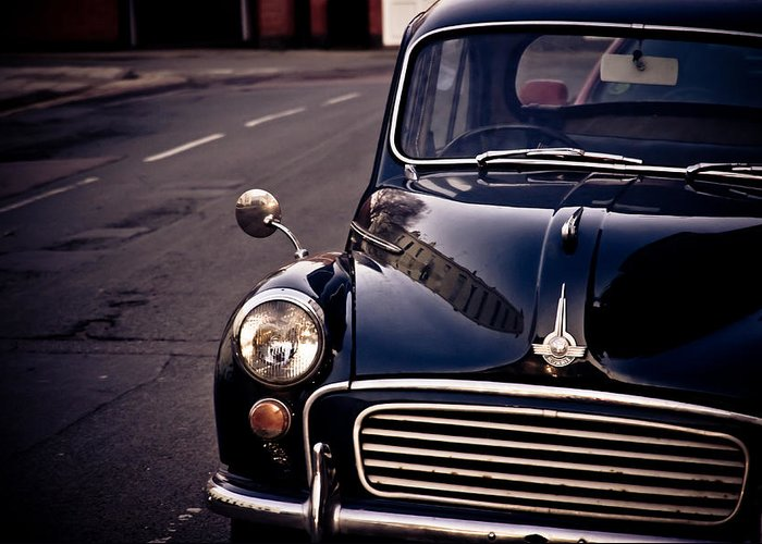 Car Greeting Card featuring the photograph Morris Minor by Justin Albrecht