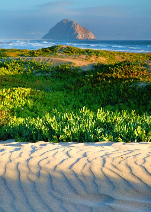 Pacific Ocean Greeting Card featuring the photograph Morro Rock And Beach IIi by Steven Ainsworth