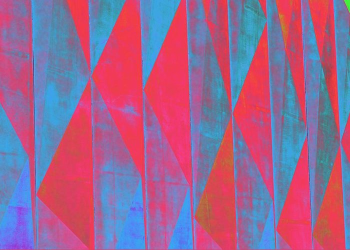 Geometric Pattern Greeting Card featuring the photograph Mostly Blues And Reds by Richard Henne