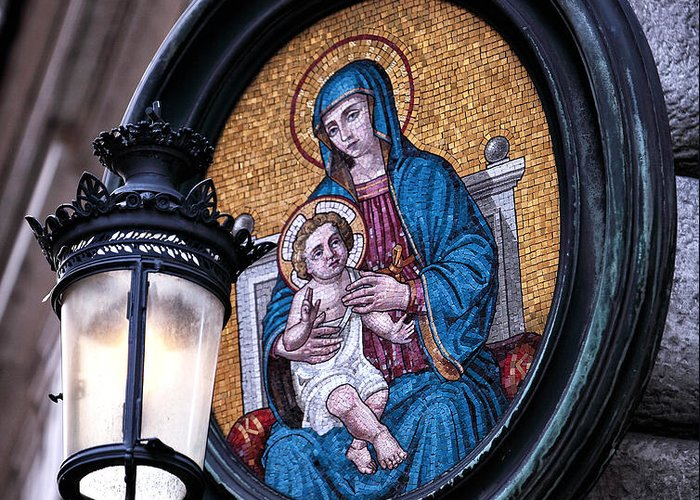 Mother And Child Greeting Card featuring the photograph Mother And Child by John Rizzuto