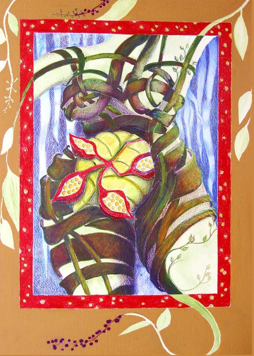 Mother Earth Greeting Card featuring the painting Mother Earth by Diana Davenport