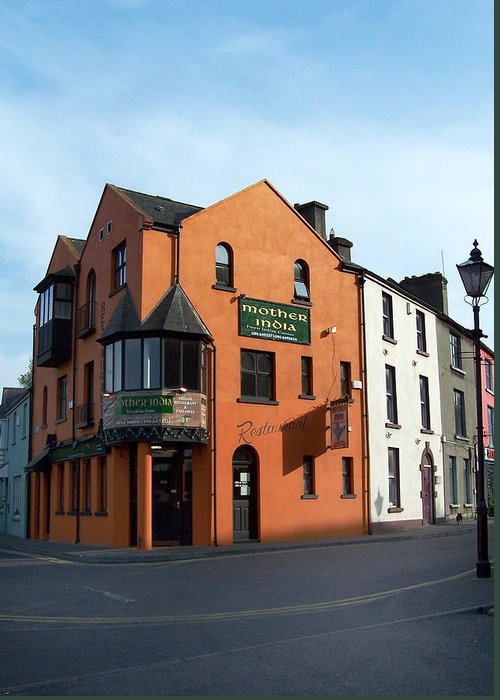 Ireland Greeting Card featuring the photograph Mother India Restaurant Athlone Ireland by Teresa Mucha