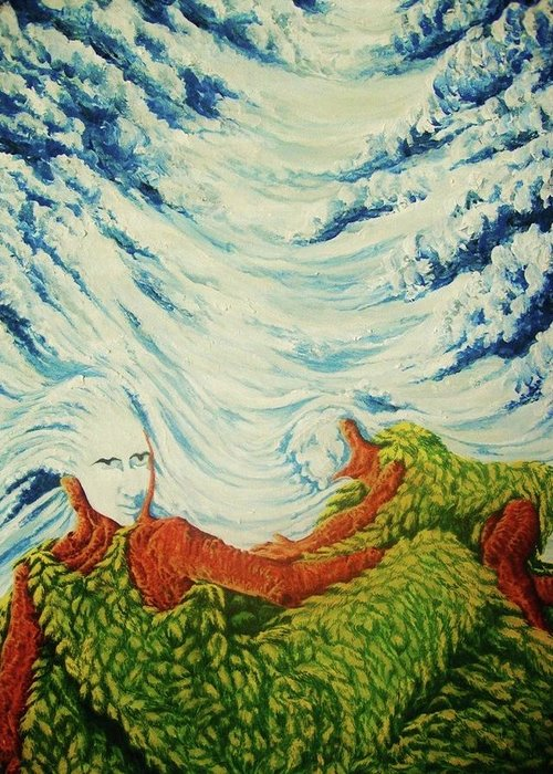 Mother Nature Greeting Card featuring the painting Mother Nature by Pralhad Gurung