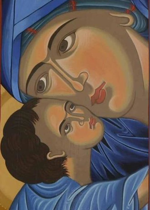 Marinella Owens Greeting Card featuring the painting Motherlove by Marinella Owens