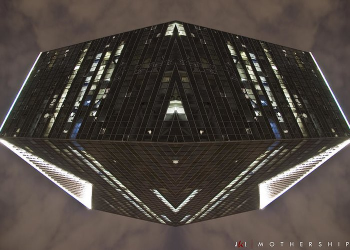 Abstract Greeting Card featuring the photograph Mothership II by Jonathan Ellis Keys