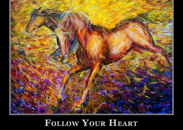 Motivational Poster Greeting Card featuring the painting Motivational Horsea by Nik Helbig