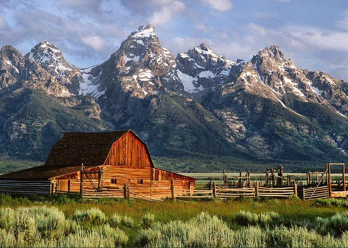 Teton Greeting Card featuring the photograph Moulton Barn by Randall Roberts