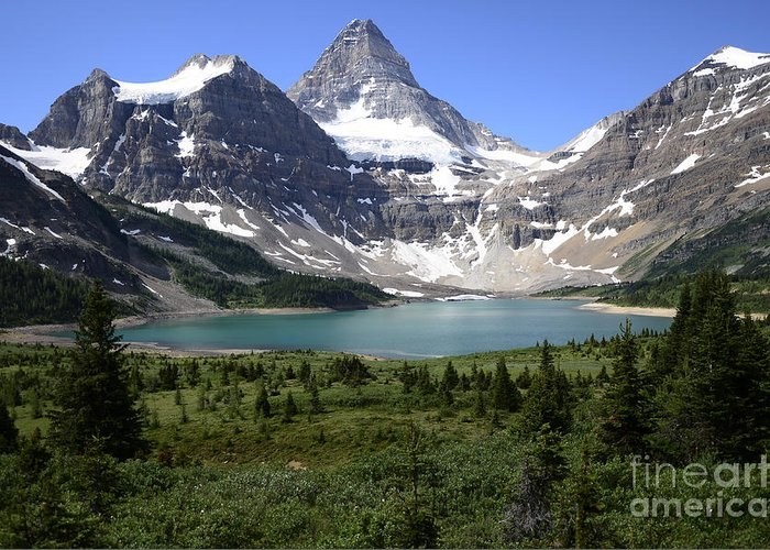 Mount Assiniboine Greeting Card featuring the photograph Mount Assiniboine Canada 16 by Bob Christopher