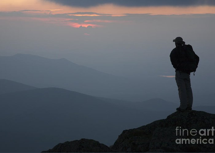 Hike Greeting Card featuring the photograph Mount Clay Sunset - White Mountains New Hampshire Usa by Erin Paul Donovan
