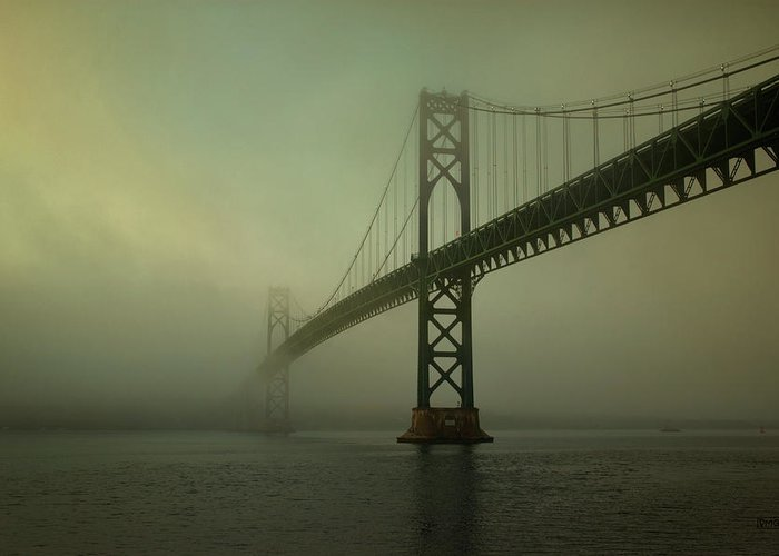 Mount Greeting Card featuring the photograph Mount Hope Bridge by Dave Gordon