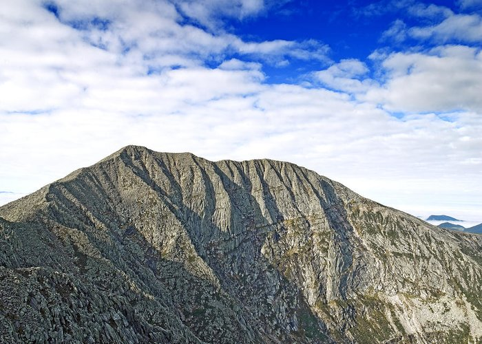 Katahdin Greeting Card featuring the photograph Mount Katahdin In Baxter State Park Maine by Brendan Reals