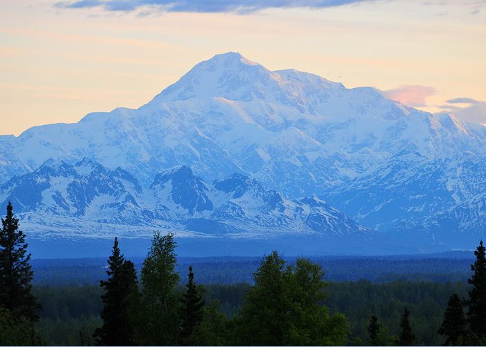 Mount Mckinley Greeting Card featuring the photograph Mount Mckinley by Keith Gondron