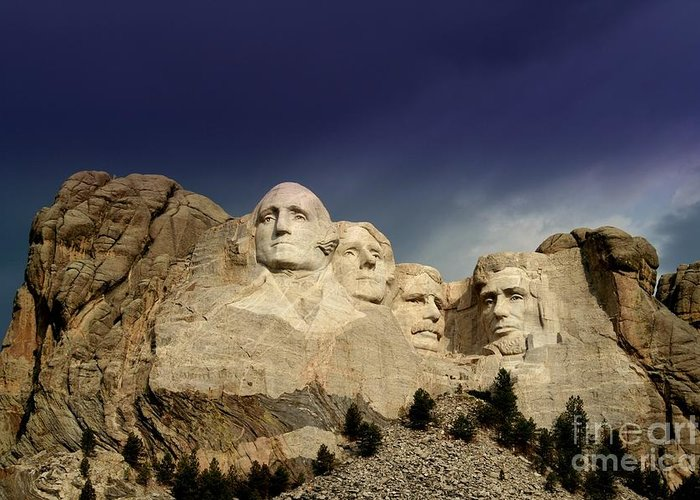 Mount Rushmore Greeting Card featuring the photograph Mount Rushmore by Brent Parks
