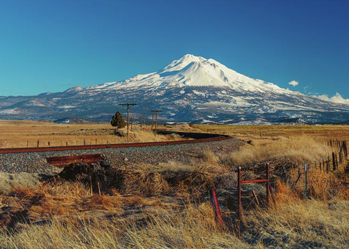Mount Shasta Greeting Card featuring the photograph Mount Shasta California by Mike Penney