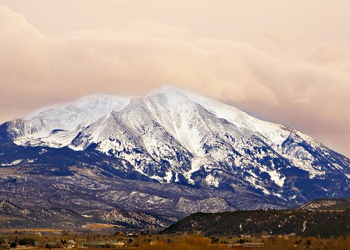 Americana Greeting Card featuring the photograph Mount Sopris by Marilyn Hunt