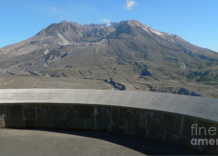 Volcano Greeting Card featuring the photograph Mount St. Helen Memorial by Larry Keahey