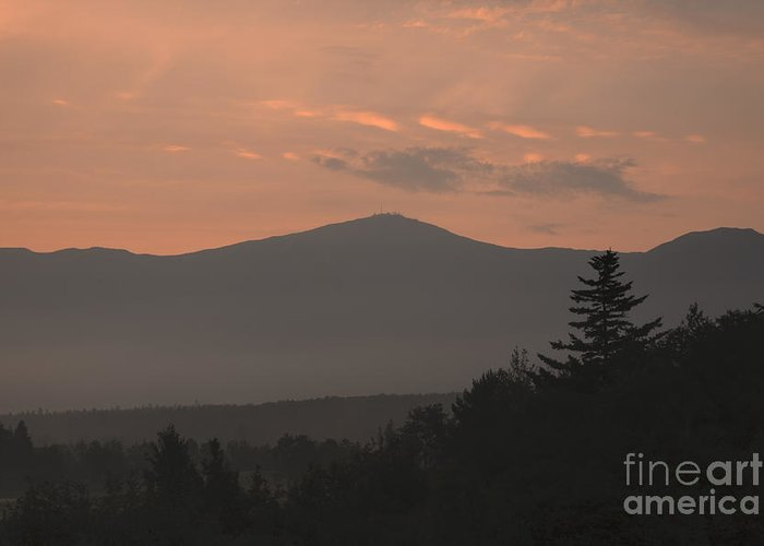 Silhouette Greeting Card featuring the photograph Mount Washington - Bretton Woods New Hampshire Usa by Erin Paul Donovan